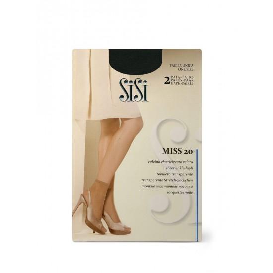 SI Miss 20 /носки 2пары/ nero unica