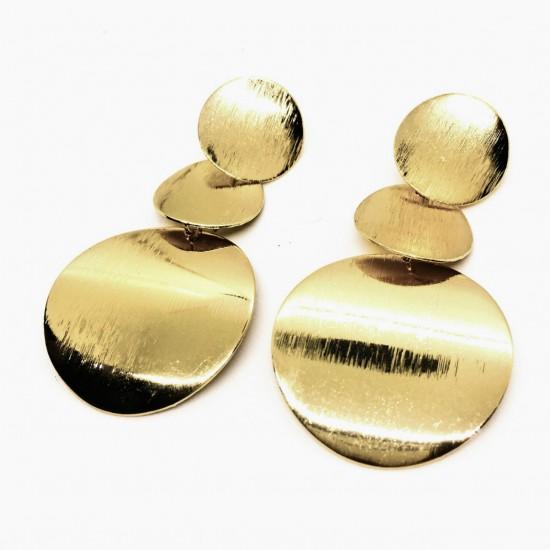 1711.95 Серьги диски матовые золото