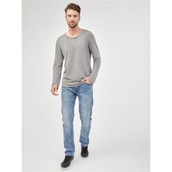 T M4048.55 (007-2-jeans) футболка (фуфайка) с дл.рукавом муж (S) (6)