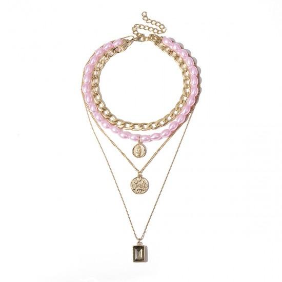 1205.01 Ожерелье тройное жемчуг