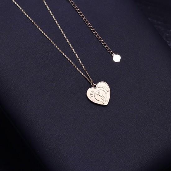 1405.95 Подвеска сердце yes no maybe (серебро 925)