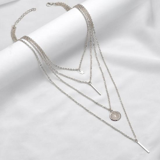 2405.95/96 Ожерелье многослойное со звездой