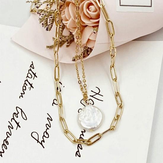 2505.95/96 Ожерелье барочный жемчуг