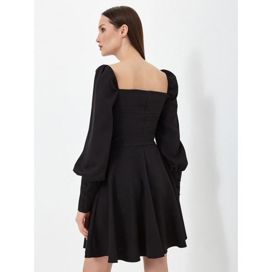 El_W10821_черный Платье жен