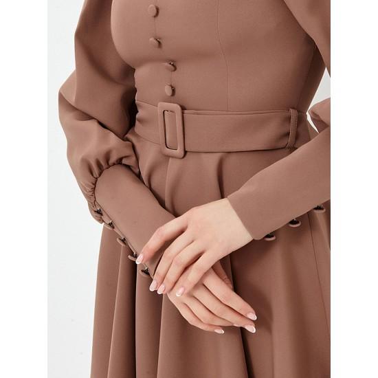 El_W10821_капучино Платье жен