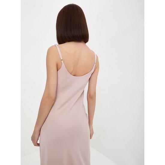 El_W10549_пудровый Платье жен