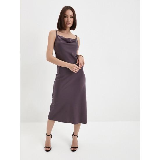 El_W10549_серо-баклажановый Платье жен