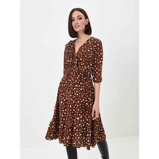 El_W10844_коричневый Платье жен
