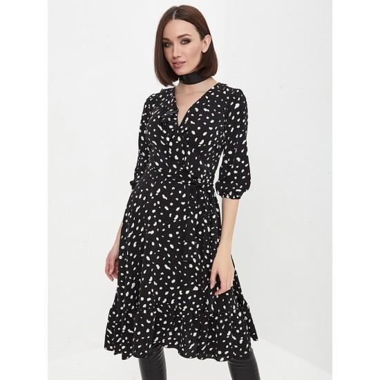 El_W10844_черный Платье жен