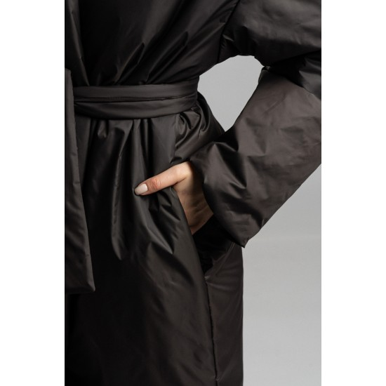 D B038-11-42.58 Пальто с запах