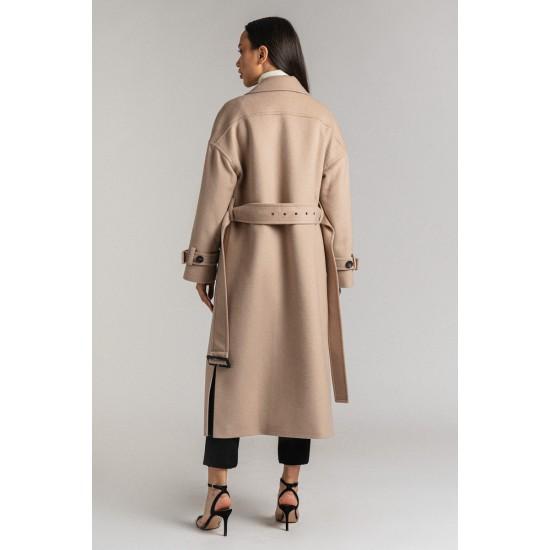 D Д035-12.12 Пальто (Светло-бежевый)