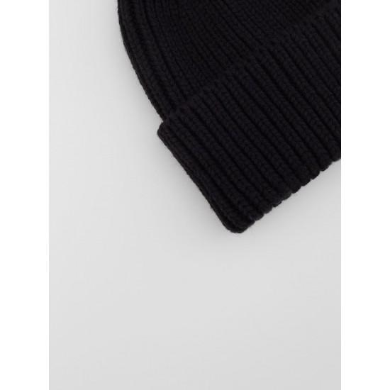 A 321.58 Шапка-бини крупной вязки (Черный)
