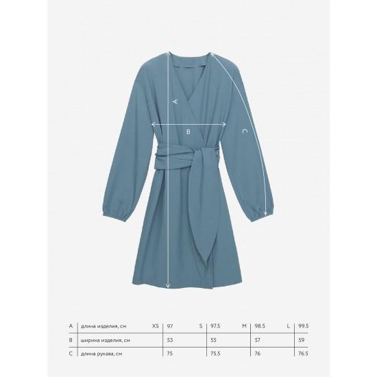 A 5220.38 Платье миди с широким поясом