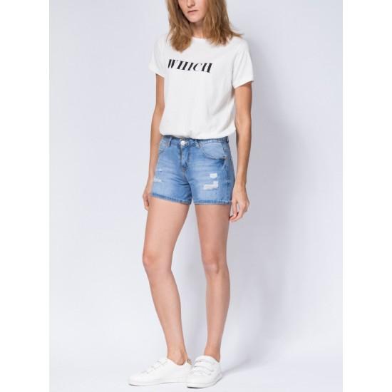 T W2950.33 (701-2-coll) шорты джинсовые жен